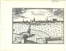 Antique map, Nantes