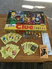 Clue Detective Board Game The Simpsons Edition Complete 2002 2nd Edition