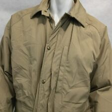 Vintage WOOLRICH Parka Jacket Barn Coat Long Lined Wool Made in USA Tan