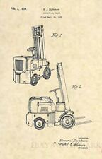 Official Forklift US Patent Art Print - Original Clark Vintage Construction -353