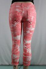 NEW Women's Robin's Jean Jane Skinny Zipper Pink Camouflage SZ 30 Inseam 22