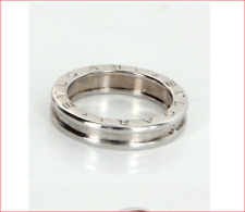 Bulgari B Zero 1 Band Ring 18K White Gold Sz 56 / 7.5 US