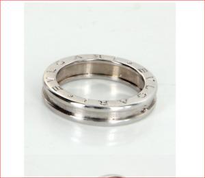 Bulgari B Zero 1 Band Ring 18K White Gold Sz 56 / 7.5 US