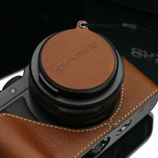 GARIZ Leather Lens Capfix Leica DLUX Lumix LX100 Cap XA-CFDLCM Camel Brown