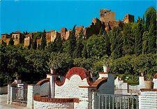 Malaga Costa del Sol Jardines Al fondo La Alcazaba Spain Postcard