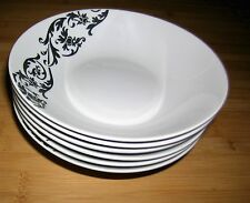 Set of Six Viners Baroque Design Bowls Cereal Soup Dessert Dishes