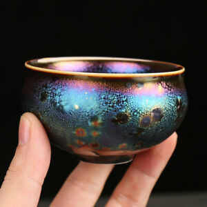 unique tea cup kiln change porcelain cup handmade TianMu Jianzhan tea cup China