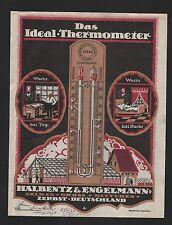 ZERBST, Werbung f Ideal-Thermometer um 1925, Nelkenkulturen Halbentz & Engelmann