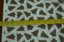 """By-the-Half-Yard, 44"""", Christmas Trees & Snowflakes on White Cotton, M3941"""