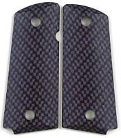 Custom Compact Officer 1911 Grips Ambidextrous Carbon Fiber for Colt Sig etc.