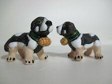 St. Bernard Dog Figurines - Pottery, Painted - Pair of 2
