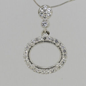 Sterling Silver Semi Mount Pendant Setting Oval OV 11x9mm Not Rhodium Plated