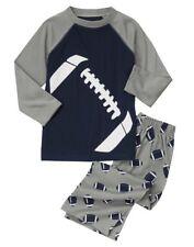 Gymboree pajamas 18-24 months football long sleeve navy blue gray NWT