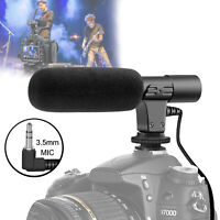 Interview Video Recording Camera Condenser Microphone For DSLR Nikon Canon 3.5mm