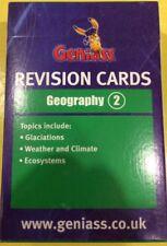Brand NEW Revision GCSEGeniassGeography 2 cards: AQA OCR EdExcel compatible