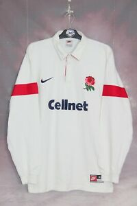 NIKE VINTAGE ENGLAND 1997-1999 HOME LONG SLEEVE RUGBY UNION SHIRT,SIZE:XL