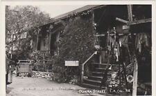 RPPC,Los Angeles,CA.Olvera St,OIldest House in L.A.,Angelino Photo,1945-50s