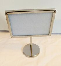 """Azzure Home 4x6"""" Chrome/Silver Picture Frame Stand/Photo Holder"""