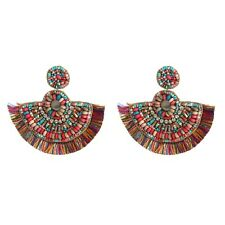 Shape Tassel Fashion Christmas Earrings Boho Bohemian Hippi African Fringe Fan