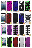 Apple The New iPod Touch 7 6th 5th Gen Hybrid Rubber Protective Hard Case Cover