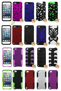 For Apple The New iPod Touch 7 6th 5th Gen Hybrid Rubber Protective Case Cover