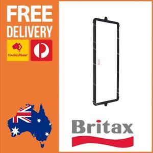 Britax Black Steel Flat Glass 18″ Mirror Head West Coast Style Truck Mirror