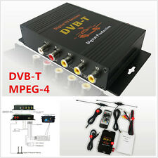 HD DVB-T MPEG4 Dual Antenna 4 Way Video Car Mobile Digital TV Receiver Box Tuner