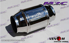 "MRC VENOM High Flow stainless 2.5"" 63.5mm 100 cell Cat Catalytic Converter."