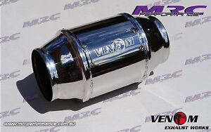"""MRC VENOM High Flow stainless 2.5"""" 63.5mm 100 cell Cat Catalytic Converter"""