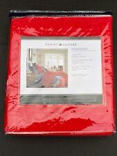 Tommy Hilfiger Full Queen Red Monogram Quilt Set w/Standard Shams