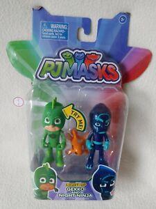 PJ Masks Light Up Gekko & Night Ninja Figure Pack