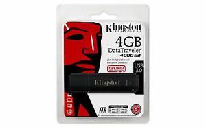 Kingston Data Traveler 4GB USB 3.0 DT4000G2 256 AES FIPS 140-2 Level 3 Encrypted