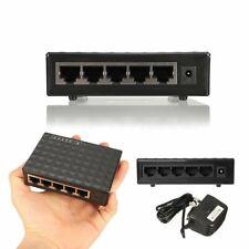 5 port RJ45 Fast 10/100/1000Mbps Gigabit Ethernet Network Switch Desktop Lan Hub