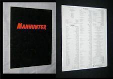 Orig MANHUNTER Poster Art Press Kit Program Brochure TOM NOONAN William Petersen