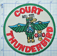WASHINGTON STATE COURT THUNDERBIRD 1111 INT'L ORDER OF FORESTERS PATCH