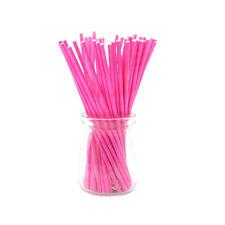 100 Pcs/Set Colorful Lollipop Sticks Cake Pop Sticks for Candy Chocolate 10cm LA