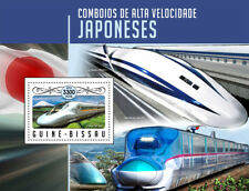 Guinea-Bissau 2016 MNH Japanese High-Speed Trains Shinkansen 1v S/S Rail Stamps