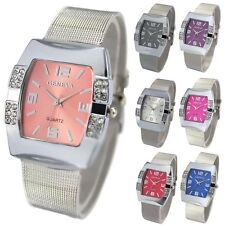 Uhr Damenuhr Quarzuhr Analog Mode Luxus Damen Armbanduhr Kristall Edelstahl