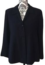 Mimi Maternity Blazer Jacket Navy Blue Size Small NEW Lined Flared Career Comfy