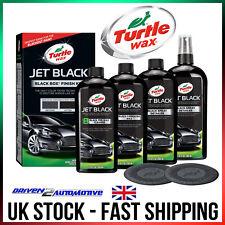 Turtle Wax Jet Black Polish & Valeting Kit Carnauba Wax Cleaner Spray Detailer