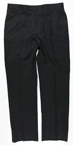 NWT Tommy Hilfiger Tyler Flat Front Wool Suit Dress Pants MENS 34 x 32 Black