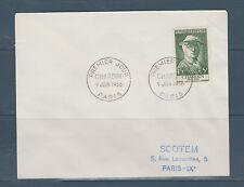 enveloppe 1er jour  célébrité  Chardin   1956