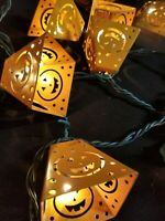 18 Halloween Decoration Electric Metal String Lights Pumpkins Jack-O-Lantern