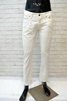 JECKERSON Jeans Bianco Corto Uomo Taglia 30 Pants Men's Pantalone  Herrenhose