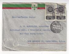 1950 Angola Portuguese Africa Airmail to Los Angeles California