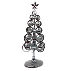 Silver Metal Christmas Tree Large 42cm Table Centerpiece Home Party Decoration