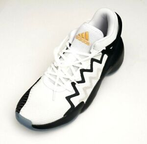 Adidas Men's D.O.N. Issue #2 Basketball Shoes White/Black/Gold Size 13