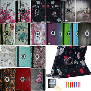 360 Rotating Smart Case Cover Stand Magnetic Leather for New & Old Apple iPad