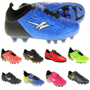 Boys Kids GOLA BLADE Moulded Studs Sports Trainers Football Boots Sz Size UK 7-6