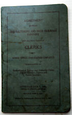 New ListingRev B&O Rr 7/1/1927 Union Agreement w/ Clerks & Other Office & Station Employees